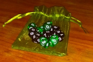 My new World of Darkness dice. Thanks Elena!