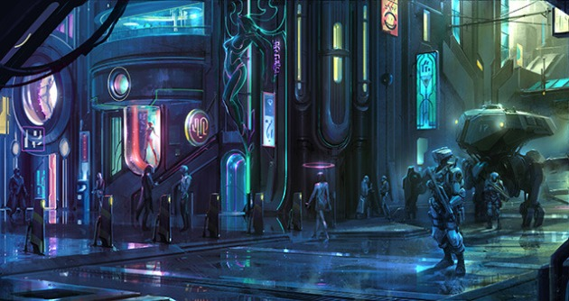 Welcome to the neon wonderland of the future, where they really ARE watching you...