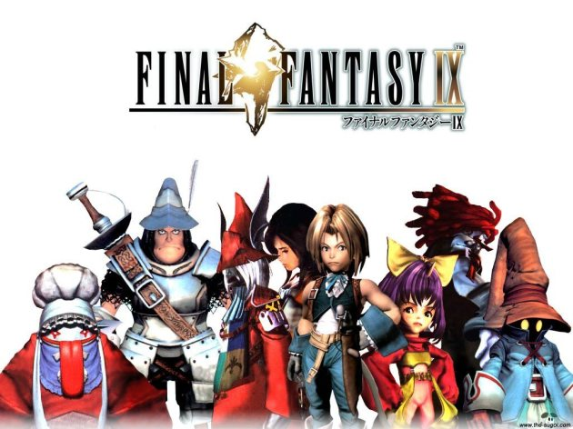 The much more cartoonish cast of Final Fantasy IX