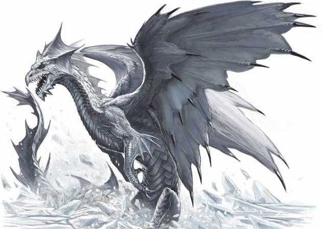 The dreaded White Dragon! He of Frosty Breath, Wicked Claw, and Little Intellect...